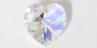 14mm Swarovski Heart in Crystal AB