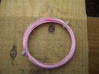 1mm Baby Pink Coloured Copper Wire (4m)