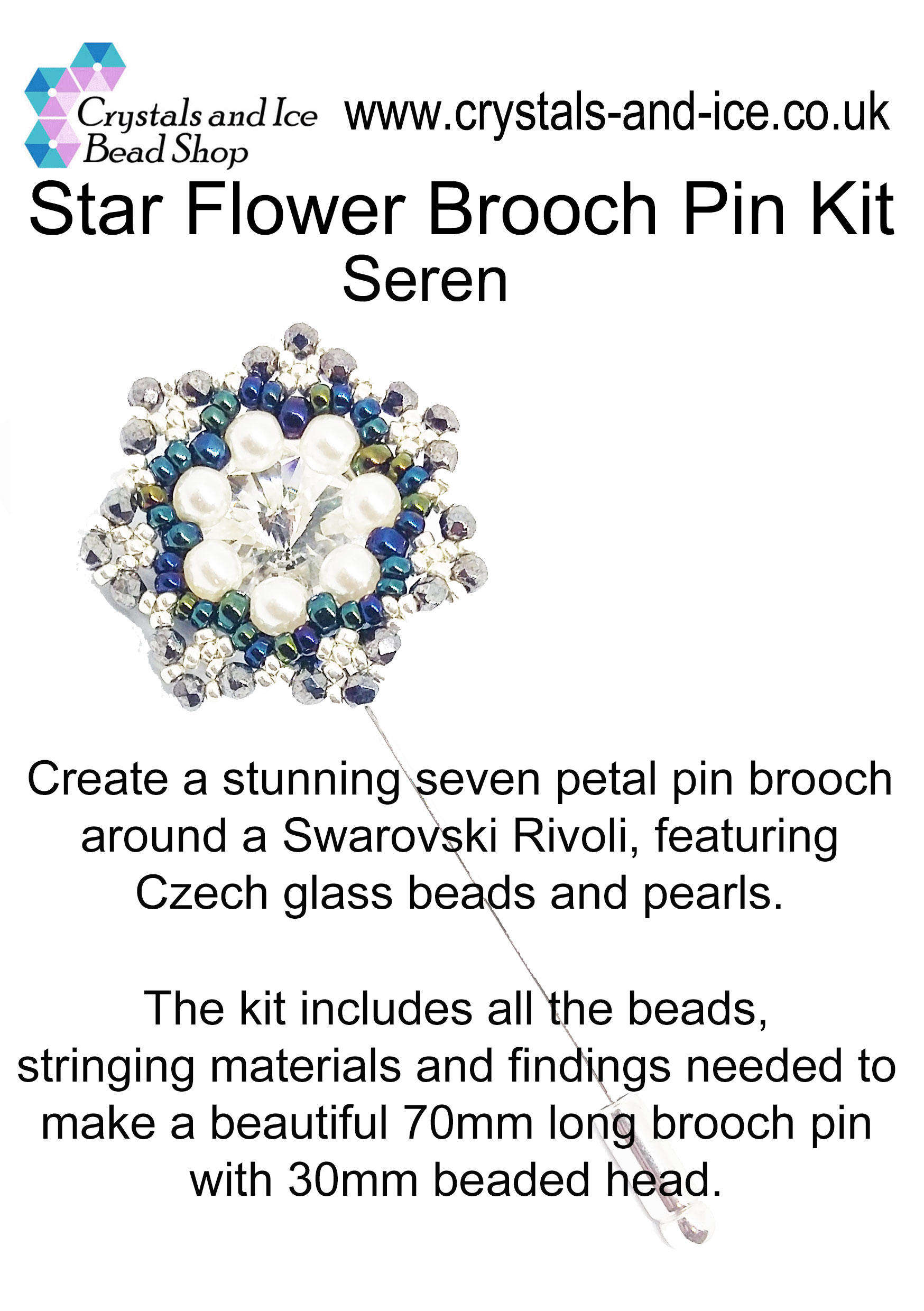 Star Flower Brooch Pin Kit - Seren