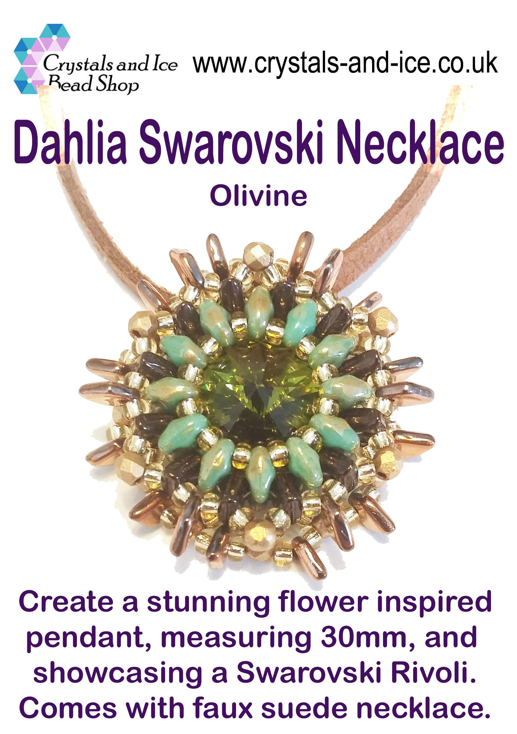 Dahlia Swarovski Necklace Kit - Olivine