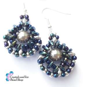 Osiris Earrings Kit - Blue Iris and Silver