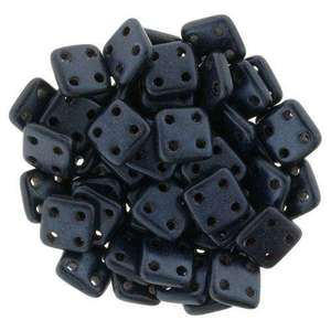 6mm CzechMates QuadraTile in Metallic Suede Dark Blue
