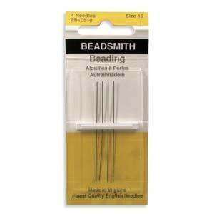 4 High Quality Beading Needles #10