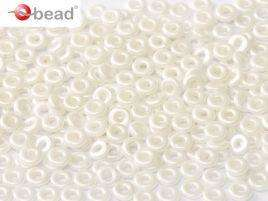 2x4mm O Bead in Pastel White