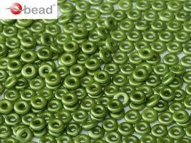2x4mm O Bead in Pastel Olivine