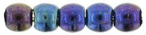 2mm Czech Glass Round in Iris Blue