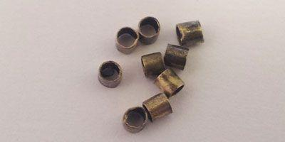 2mm Crimp Tube in Brass Plate
