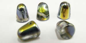 7x10mm Czech Glass Gumdrop in Crystal Marea