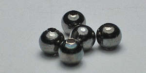 3mm Round - Black Plated