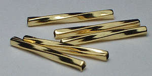12mm Twist - Gold Plated