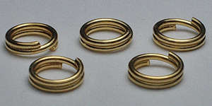 5mm Split Ring in Gold Plate