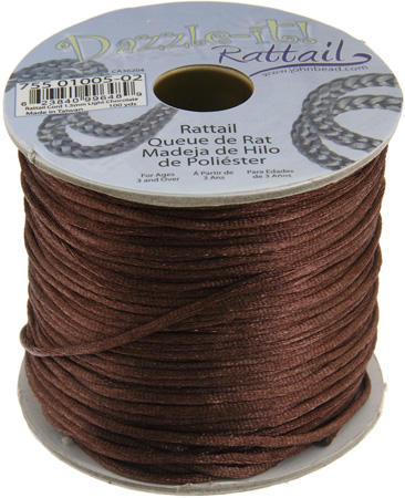 1.5mm Rattail Cord - Light Chocolate