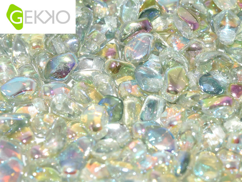 3x5mm Gekko Bead - Crystal Green Rainbow (6g)