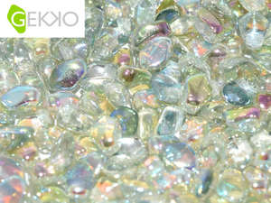 3x5mm Gekko Bead - Crystal Green Rainbow