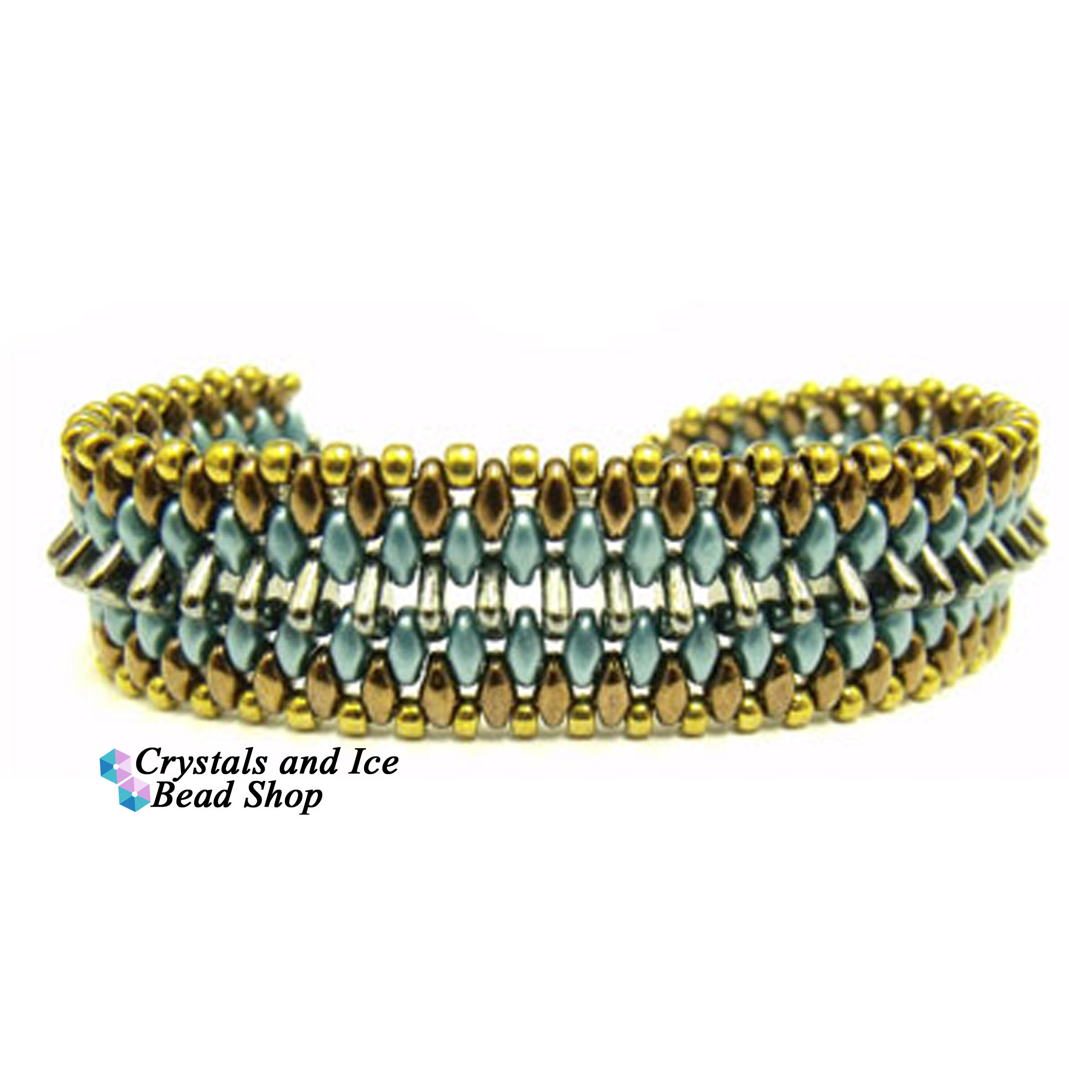 Ribbed Triangle Bracelet Kit - Egyptian