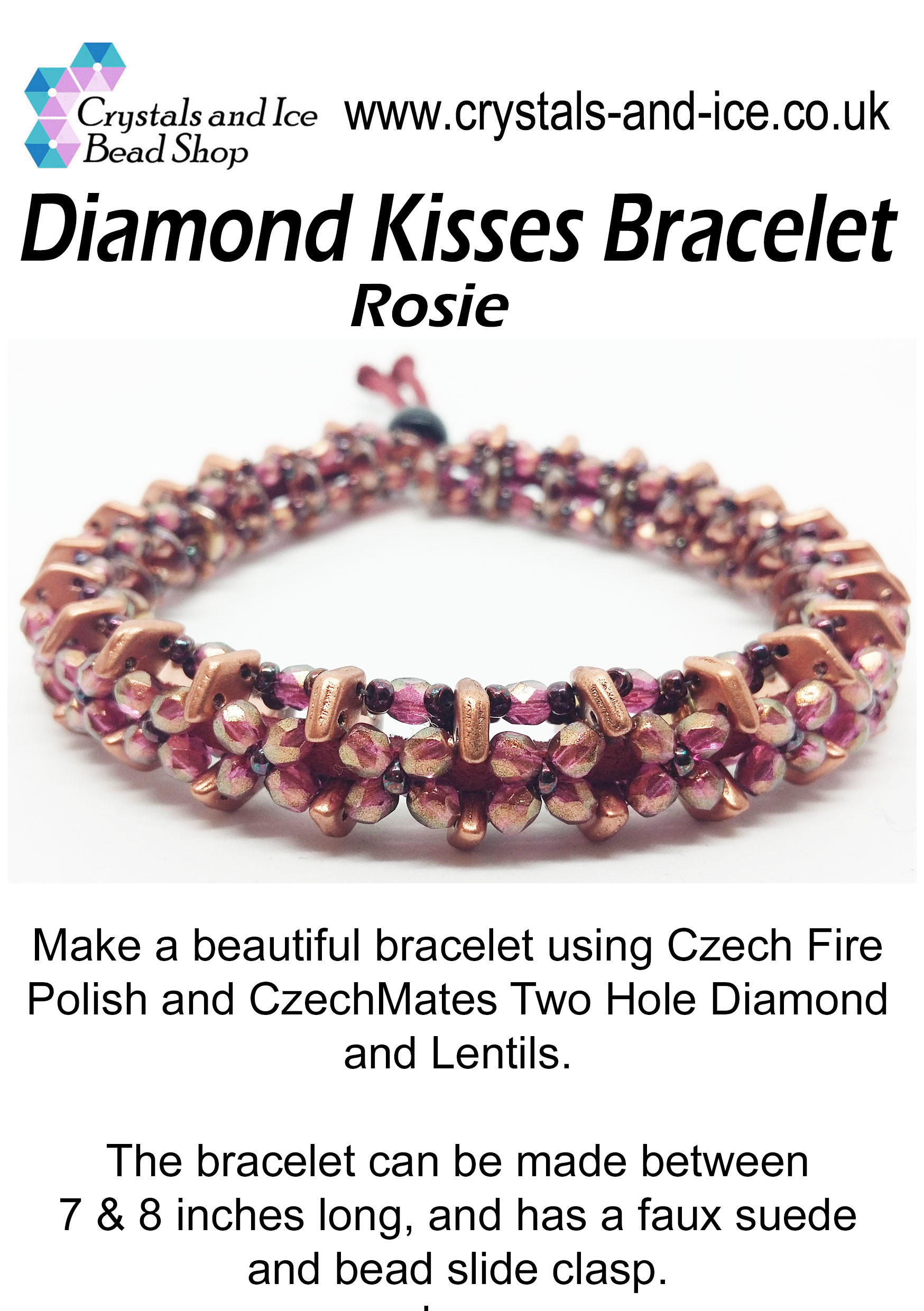 Diamond Kisses Bracelet Kit - Rosie