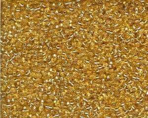 Miyuki Seed Beads 11/0 in Gold Trans. Silver Lined
