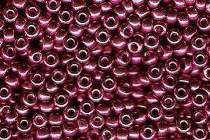 Miyuki Seed Beads 8/0 in Light Cranberry Duracoat Galvanised