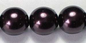 8mm Czech Glass Pearl in Aubergine