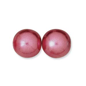 8mm Czech Glass Pearl in Fuchsia