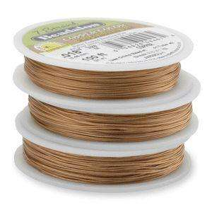 7 Strand Beadalon Stringing Wire 0.018 Inch - Copper Colour