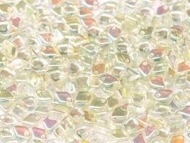 1.5x5mm Dragon Scale Bead in Crystal Green Rainbow