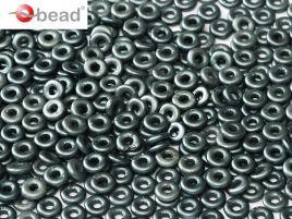 2x4mm O Bead in Pastel Dark Grey
