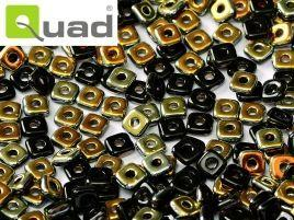 4mm Quad Bead in Jet Marea