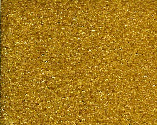 Miyuki Seed Beads 15/0 in Light Gold Transparent