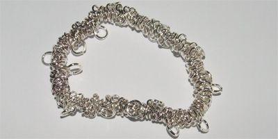 Elasticated Charm Bracelet in Silver Plate