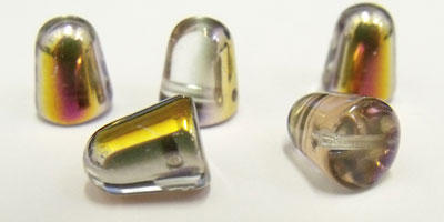 7x10mm Czech Glass Gumdrop in Crystal Sliperit