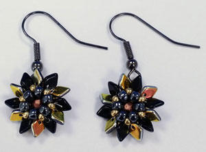 Dragon Scale Flower Earrings Pattern