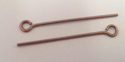 25mm Eye Pin in Copper Plate