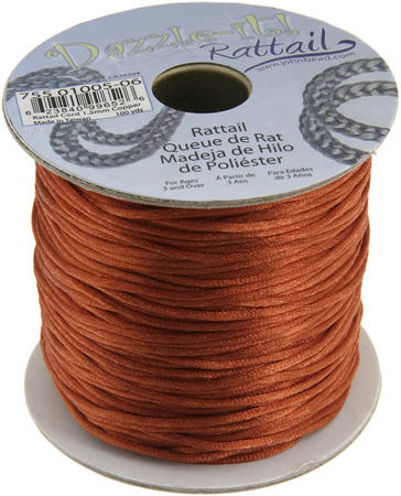 1.5mm Rattail Cord - Copper