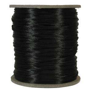 2mm Satin Cord - Black