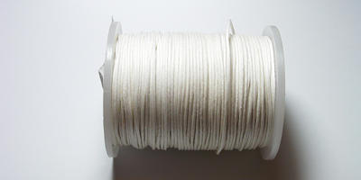 0.5mm Waxed Cord - White