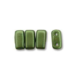3x6mm Czech Mates Two Hole Brick in Pastel Olive