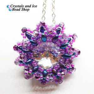 Snow Flower Pendant Kit - Heather