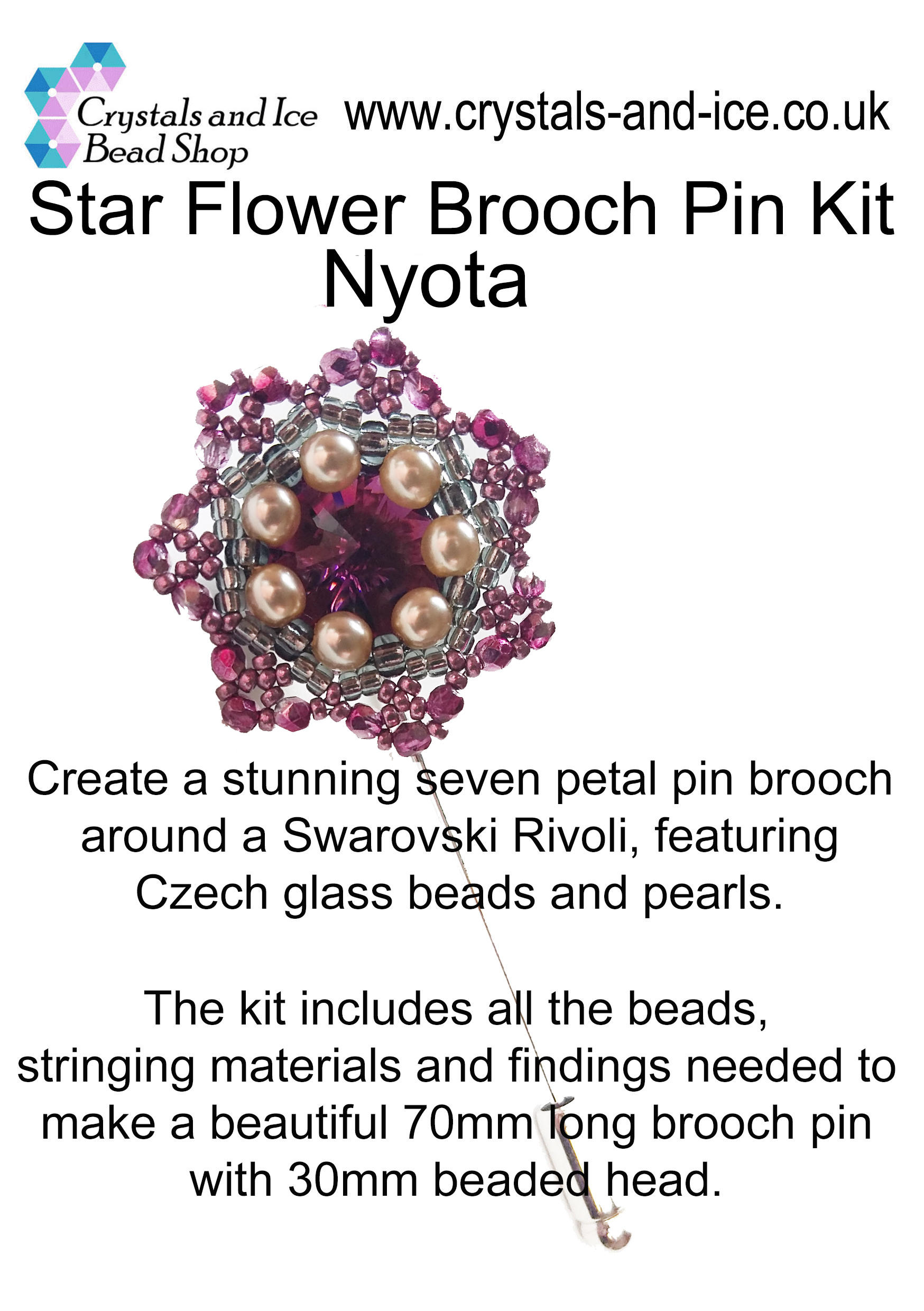 Star Flower Brooch Pin Kit - Nyota