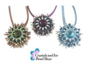 Beading Pattern - Dahlia Swarovski Necklace