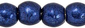 3mm Czech Glass Round Beads in Saturated Metallic Evening Blue