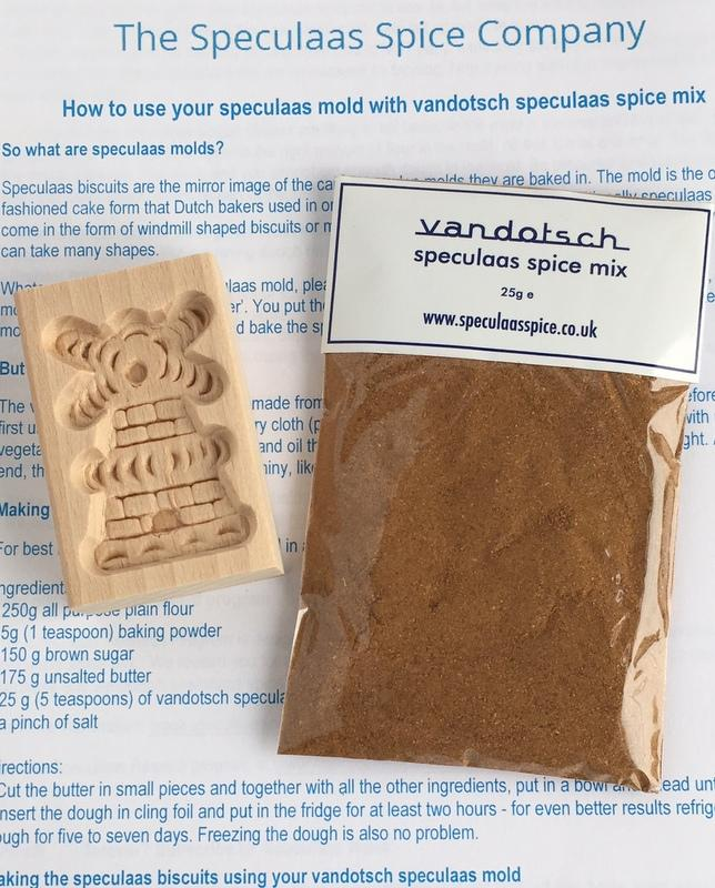 vandotsch Speculaas Spice and Small Windmill Mould baking kit