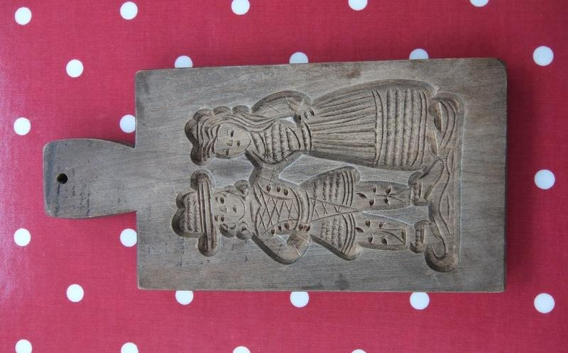Authentic wooden mold on speculaas home page