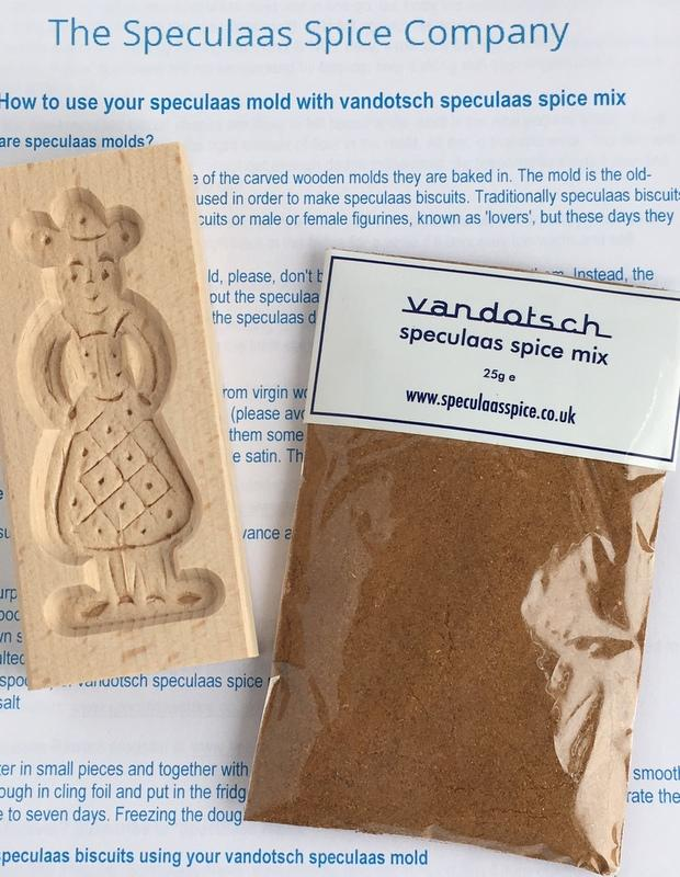 Woman mold with vandotsch speculaas spice mix