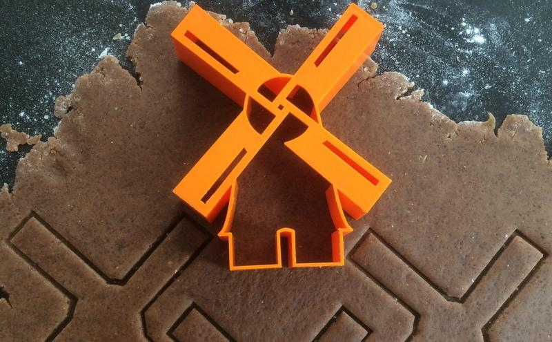 windmill cutter with vandotsch speculaas spiced dough