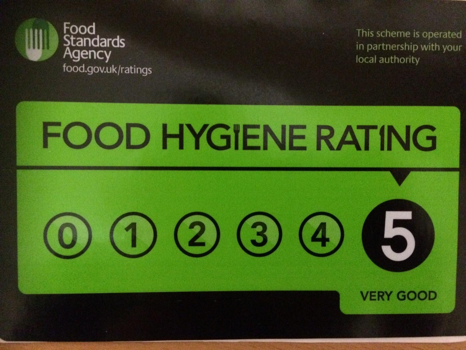 Rocking Rocky Road hygiene certificate