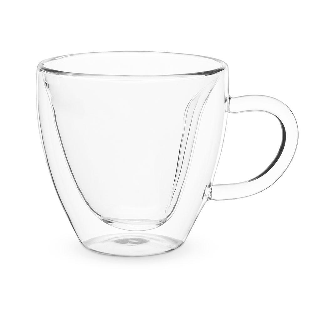 Heart Double Walled Glass Tea Mug - £12.99 | Uberstar.com