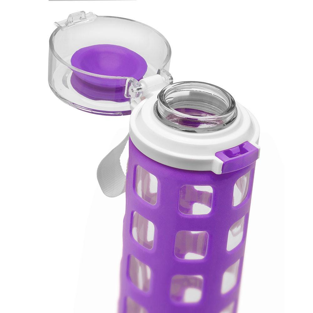 ELLO Syndicate Glass Water Bottle - Purple - Only £14.99