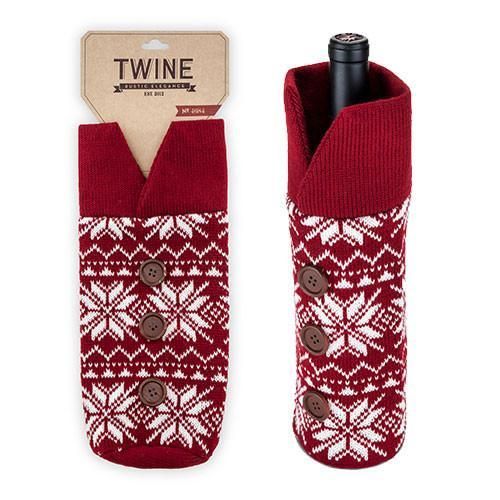 Wine Bottle Knitted Christmas Jumper - Only £12.99