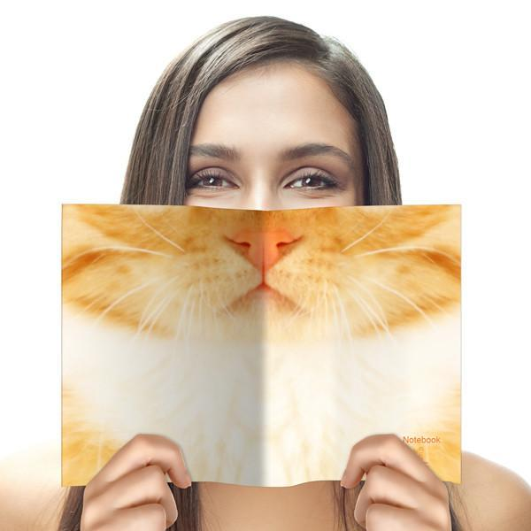 Animal Face Notebook Cat